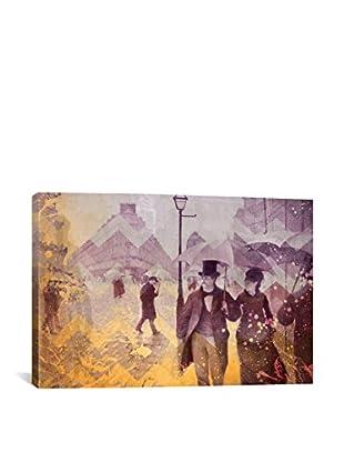 Paris Street IV Gallery Wrapped Canvas Print