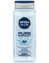 NIVEA Pure Impact Men's Body Wash 16.9 oz