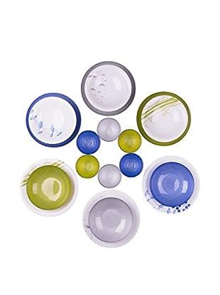 Molecuisine Geschirr 18 tlg. Set Odissea grün/blau