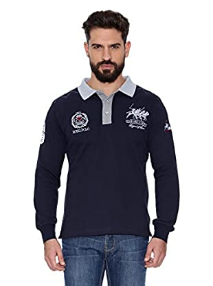 Geographical Norway Polo Manga Larga ML Kitsh Men Ls 100 (Azul marino)