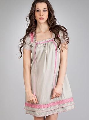 Flamenco Vestido Matilde (piedra / rosa)
