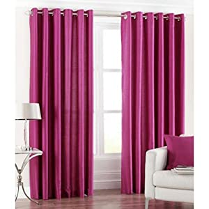 Sai Arpan Pink Eyelet Door Curtain (1 Pc)