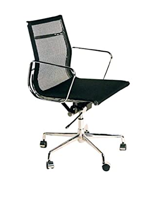 Control Brand Mid-Century Mesh Executive Office Chair, Black