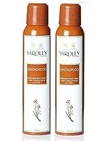 Yardley Sandalwood Deo Spray, 150ml (Pack of 2)