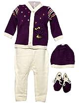 Amity Anchor Kids Warm Wear Set (AA14-15275_0-3 Months_Purple)
