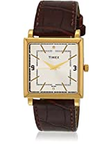 Ti000T20800 Brown/White Analog Watch Timex