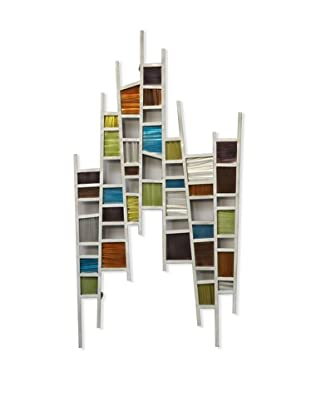 Nova Colored Windows, Wall Art-Brushed Steel Wire, Ground Steel, Multicolor