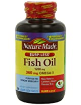 Nature Made Fish Oil 1200 Mg Burp-less, Value Size, 200-Count
