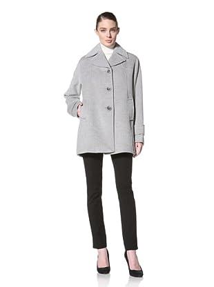 Jones New York Women's Single-Breasted Textured Coat (Grey)