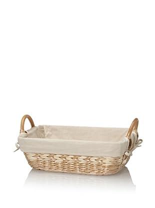 Creative Bath Vanity Basket With Liner (Natural/Bleach)