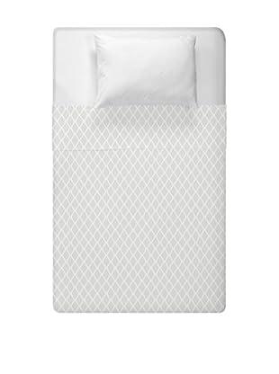 e by design Geometric Duvet Cover (Ivory/Grey)
