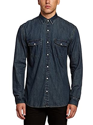 Selected Homme Camisa Hombre Sumter (Azul Marino)