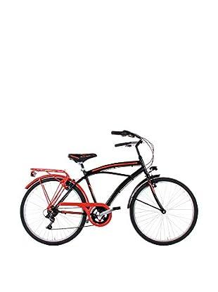 SCHIANO Fahrrad 26 Cruiser 126 schwarz/rot