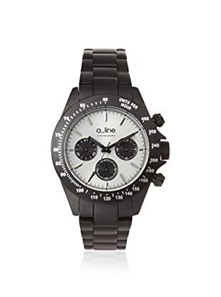 a_line Women's 20050-BK-SL Amore Chronograph Black Aluminum Watch