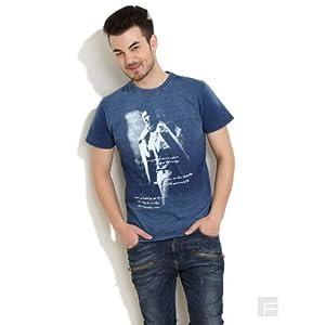 All Man Printed T-Shirt-Dark Blue-XL