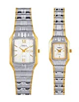 Timex Classics Analog White Dial Couple's Watch - PR135