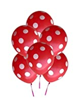 GrandShop 50295 Balloons Polka Dot Extra Large 12 Inch Red (Pack of 25)