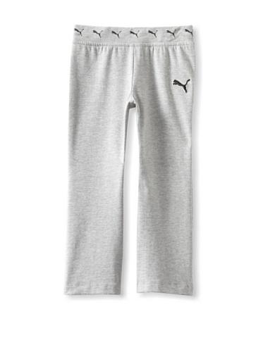 Puma Girl's 2-6X Little Yoga Pant (Grey Heather)