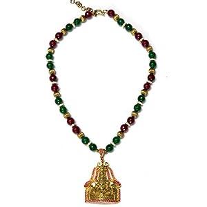 Daamak Jewellery Lord Balaji Pendant Necklace