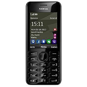 Nokia 206 (Dual SIM, Black)