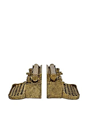 Three Hands Typewriter Bookends, Gold