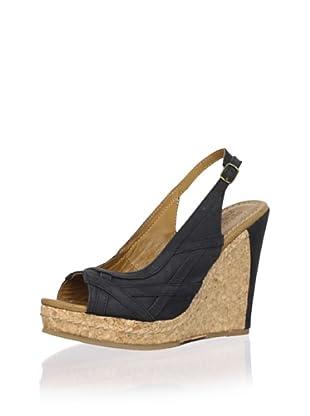 J. Shoes Women's Alba Wedge Pump (Black)