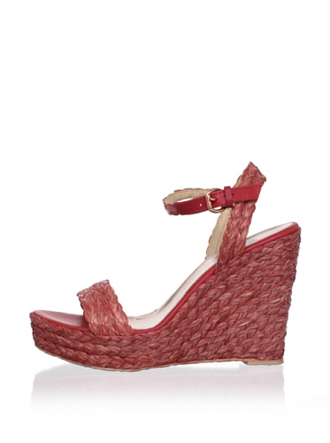 Belle by Sigerson Morrison Women's Lucia 2 Sandal (Soft Red)