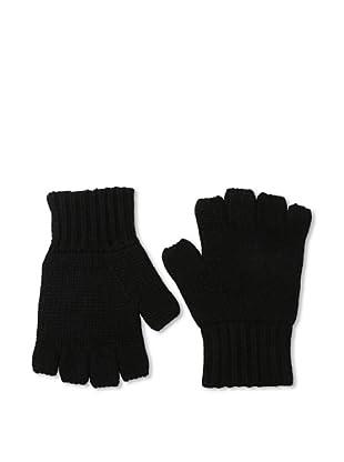 Sofia Cashmere Men's Fingerless Gloves (Black)