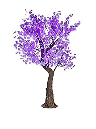 LED White Maple Tree, Purple Bulbs