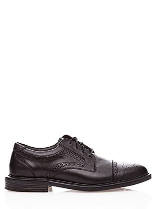 Dockers Zapatos Oxford de Cuero con Cordones (negro)