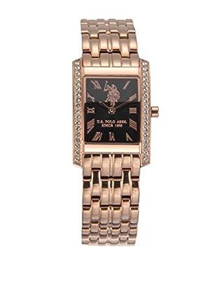 U.S. POLO ASSN. Uhr mit japanischem Quarzuhrwerk Shannon rosé 33 mm