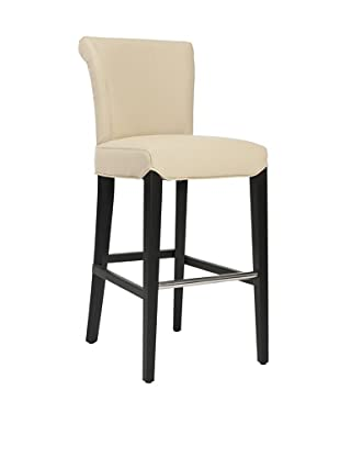 Safavieh Mercer Collection Thomas Leather Barstool, Cream
