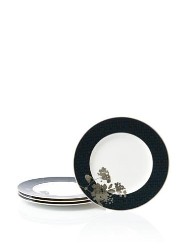 Noritake Set of 4 Everyday Elegance Verdena Salad/Luncheon Plates (Platinum)