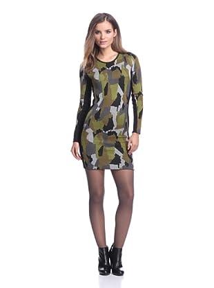 Torn by Ronny Kobo Women's Taylor Camo Dress (Green)