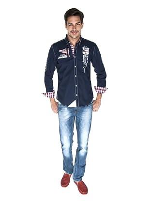 Giorgio Di Mare Camisa Oliver (Azul Marino)