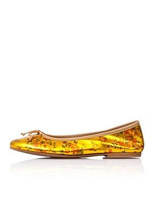 Bisue Bailarinas Flores Brillo (Amarillo)