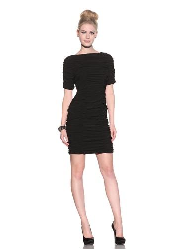 Taylor Dress Women's Matte Jersey Ruched Dress (Black)