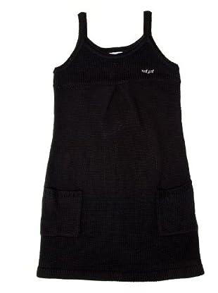 Naf Naf Chevignon Vestido Abalorio (negro)