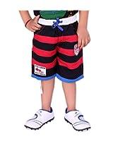 OKS Junior Red Cotton Printed Capri For Boys | OKJ938RED