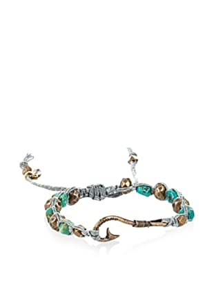 Ettika Men's Fisherman's Hook Turquoise Bracelet