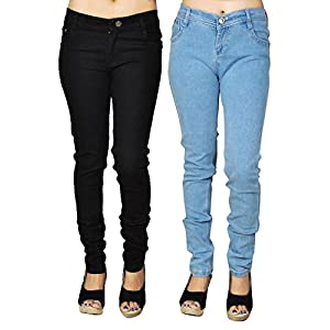 Coaster Pack of 2 Stretchable Denims for Women