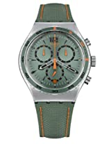 Swatch Green Leather Analog Men Watch YVS402