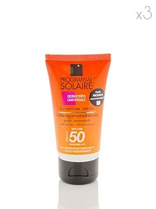 Programme Solaire Set 3 Pezzi Crema Ultraprotettiva Viso Spf 50 50 ml cad.