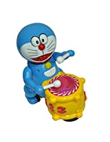 Nyrwana Doraemon Musical Drummer with lights, Bump and go action (blue)