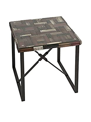 IMAX Collins Wood Top Accent Table, Multi