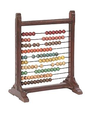 Go Home Mini Abacus, Brown/Multi