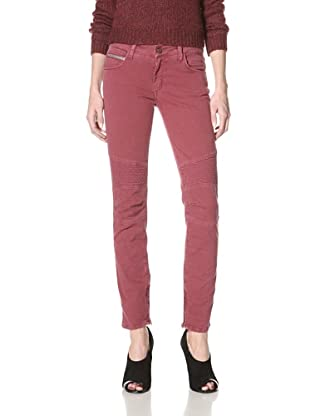 Rockstar Denim Women's Biker Jeans (Red)