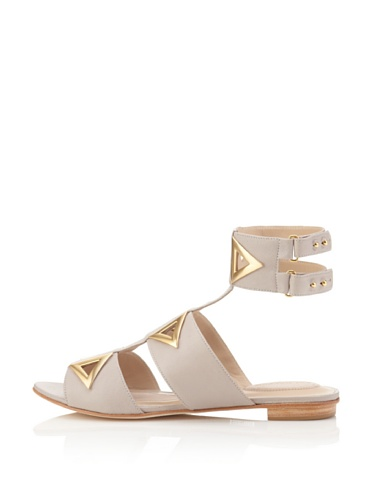 Kat Maconie Women's Maude Ankle Wrap Flat Sandal (New Grey)