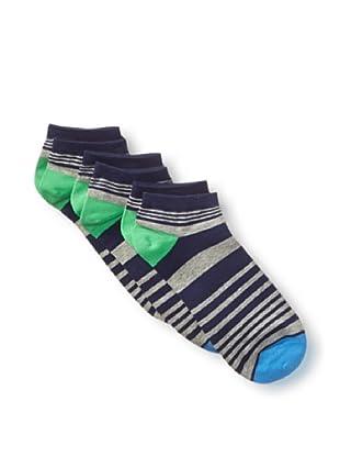 2xist Men's Hi Top Casual Socks - 3 Pack (Blue)