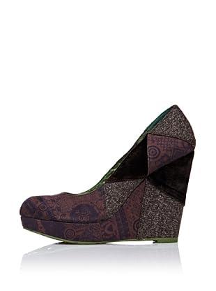 Desigual Zapatos Cuña (Marrón)